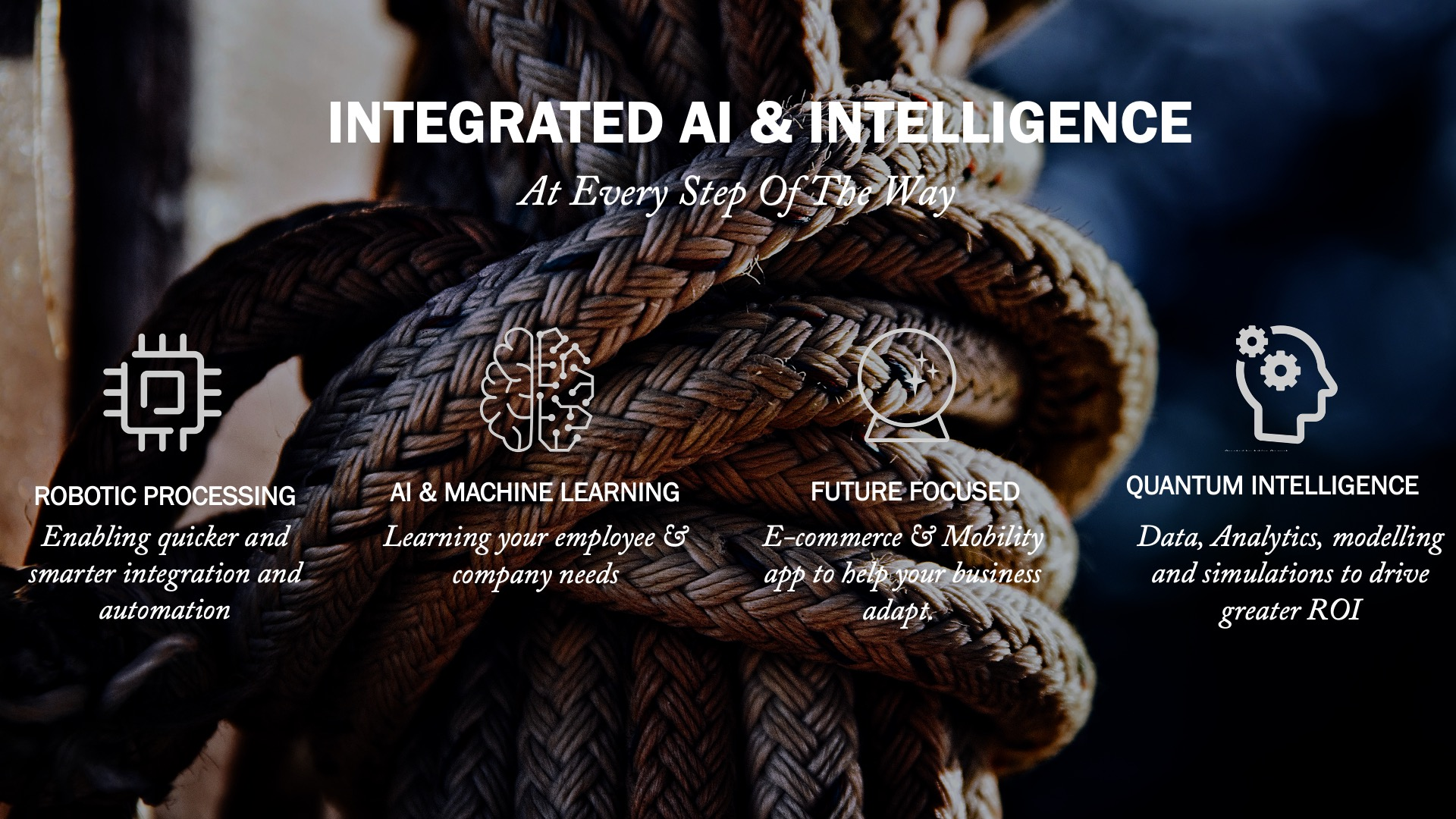 Integrated AI and Intelligence